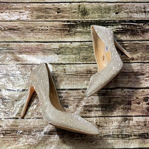 Steve Madden Daisie Crystal Jewel Pointed Toe Pump